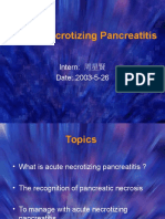 Acute Necrotizing Pancreatitis