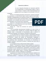 Ordenanza sobre la no discriminación y la igualdad en todos los ámbitos y formas en el municipio Chacao