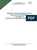 Manual Para Elaboração de Projetos Escolares Proprios –