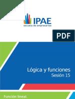 PPT SESIÓN 15 LÓGICA Y FUNCIONES-Función lineal.