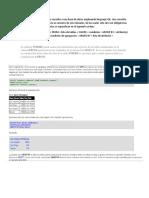 Clausulas de SQL