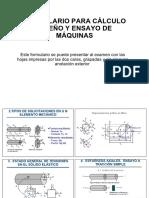 Formulario Examen Diseño Cálculo y Ensayo de Máquinas