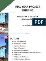 S12016 FYP1 Briefing