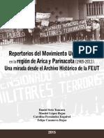 Repertorio Movimiento Universitario en la región de Arica y Parinacota (1985 - 2011). Una mirada desde el Archivo Histórico de la FEUT.