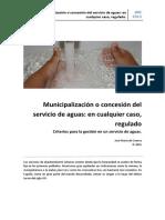Municipalizacion o Concesion, En Cualquier Caso Regulado