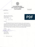 Hill County Atty Letter re