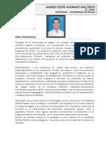 2016 Hoja de Vida Andres Andrade Walteros Psicologo 2016