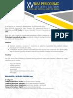 XV Concurso nacional Periodismo Especializado en Banca