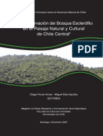 Conservacion del Bosque Esclerofilo en el Paisaje Natural y Cultural de Chile Central