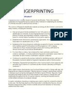 fingerprinting info sheet