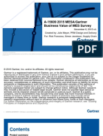 2015 Gartner-MESA Survey Analysis Deliverable
