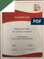 ecg certification