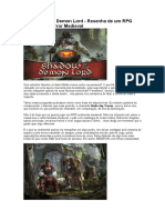 Shadow of the Demon Lord - Resenha