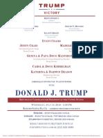 Evening with Donald J Trump