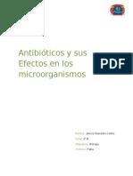 Antibióticos y Sus Efectos en Los Microorganismos