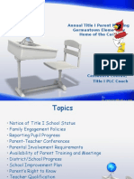 annual title i parent meeting 2015
