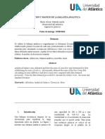 Shirlymanejo y Calibracion de La Balanza Analitica... Shirly Alvear