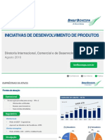 Comunicado ao Mercado - Iniciativas de Desenvolvimento de Produtos