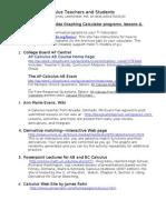 2010 Apcalculus Websites-hynes