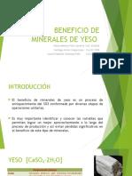 Beneficio de Minerales de Yeso