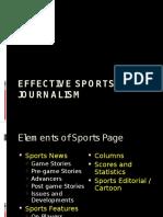 Effective Sports Journalism