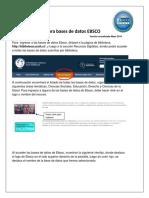 Tutorial Búsquedas EBSCO