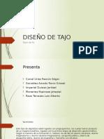 Diseño de Tajo