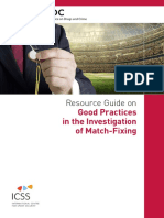 Resource Guide on Good Practices in the Investigation of Match-fixing
