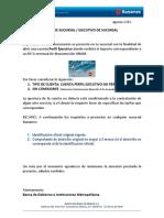 Carta Instruccion de Apertura de Cuenta - MAYORES de EDAD