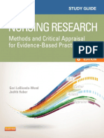 Study Guide for Nursing Research Methods and Critical Appraisal for Evidence-Based Practice-2014 - CD