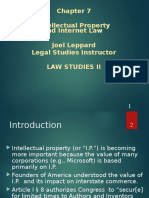 Law Studies II, Intellectual Property and Internet Law, Joel Leppard, Legal Studies Instructor