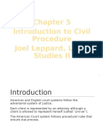 Introduction to Civil Procedure, Joel Leppard, Legal Studies II
