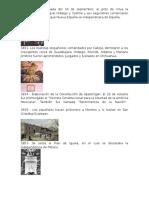 Fechas de La Historia de Mexico
