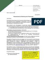 Propagandaschreiben des Elternrates in Meiendorf