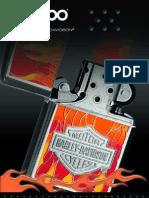 2005 Harley Davidson Zippo Lighter Catalog