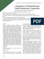 Surface Energy Properties of Yttrium Barium Copper Oxide Filled Polystyrene Composites