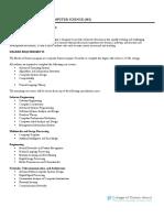 Computer Science Fact Sheet