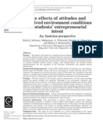 The effects of attitudes and perceived environment conditions on students' entrepreneurial intent