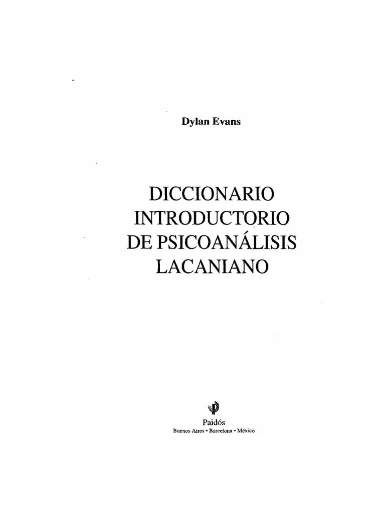 Dylan Evans-Diccionario Lacaniano