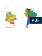 Mapa de Colombia Mapa de Suramerica