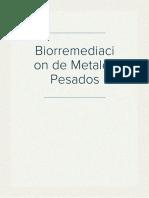 Biorremediacion de Metales Pesados
