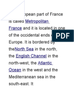 The European Part of France