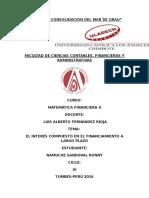 Matematica Finaciera II -Monografia