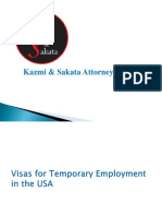 Visas for Temporary Employment in the USA