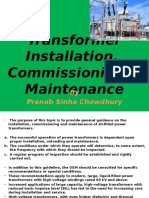 Transformer Installation & Commissioning With Maintenance