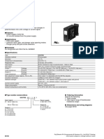 Specifications of Fuji Tranducer Wh