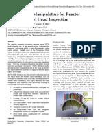 Robotics and Manipulators for Reactor Pressure Vessel Head Inspection