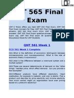 QNT 565 Final Exam - QNT 565 Final Exam Answers - UOP E Tutors