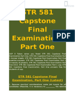 STR 581 - STR 581 Capstone Final Examination, Part One - UOP E Tutors