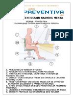 Preporučeni Dizajn Radnog Mesta u Kancelariji